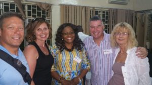 Lillian Mwila with Jeremy & Anne Simpkins and Gary & Barb Gallant