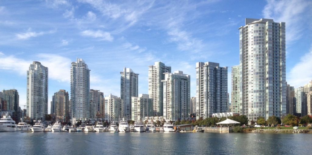 Condo towers of downtown Vancouver.