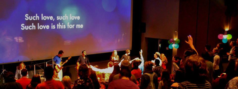 People worshiping God at Trinity Central Church Vancouver.