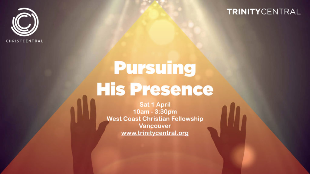 Pursuing His Presence conference slide