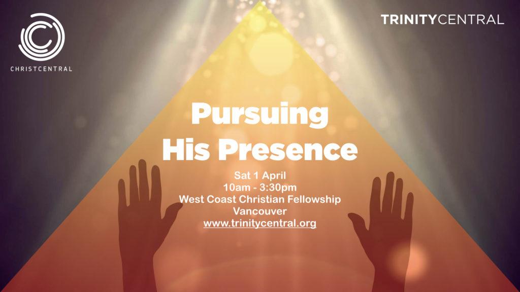 Pursuing His Presence conference slide